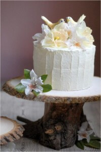oncewed rustic cake stand