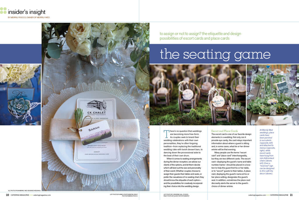 Catering Magazine, Merrily Wed, Merrily Rocco, Lake Tahoe Weddings, Wedding Reception